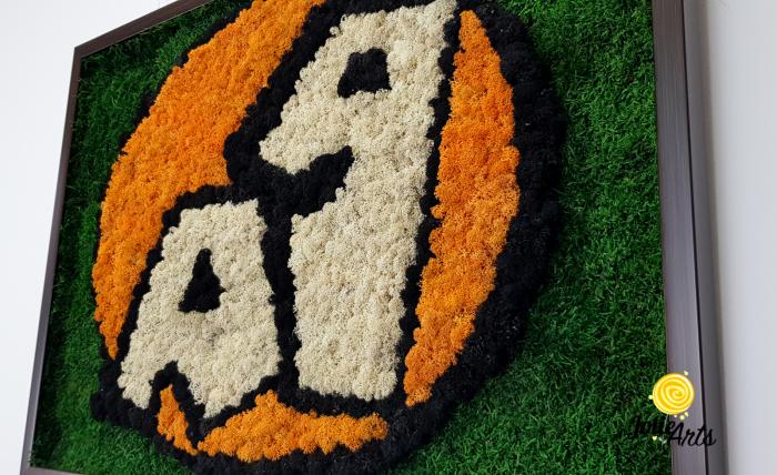 Logo A 1, decorat cu licheni si muschi plati [4]