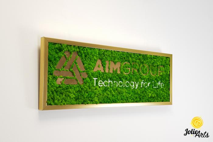 Logo personalizat cu licheni naturali stabilizati, AIM GROUP [3]