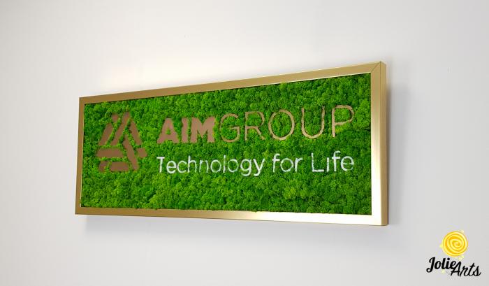 Logo personalizat cu licheni naturali stabilizati, AIM GROUP [1]