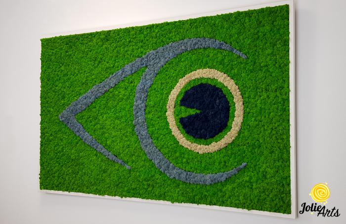 Logo personalizat cu licheni naturali stabilizati, clinica oftalmologica [1]