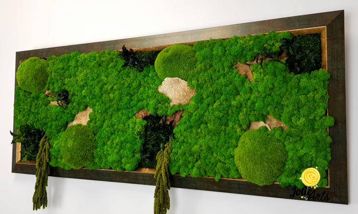 Model Amaranthus Verde, rama patinata verde cu insertii aurii [5]