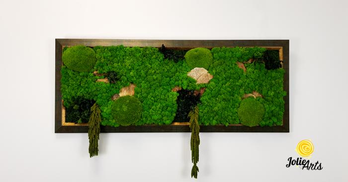 Model Amaranthus Verde, rama patinata verde cu insertii aurii [2]