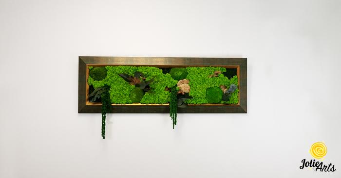 Model Amaranthus Verde, rama patinata verde cu insertii aurii [1]