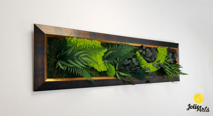 Model Amazon, dimensiune 40 x 150 cm, rama albastru patinat cu insertii aurii, Jolie Arts, www.tablouriculicheni.ro-3 [3]