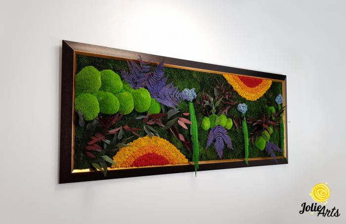 Model Curcubeu Clasic, rama maro patinat cu insertii aurii, dimensiune 60 x 200 cm, Jolie Arts, www.tablouriculicheni.ro-3 [3]