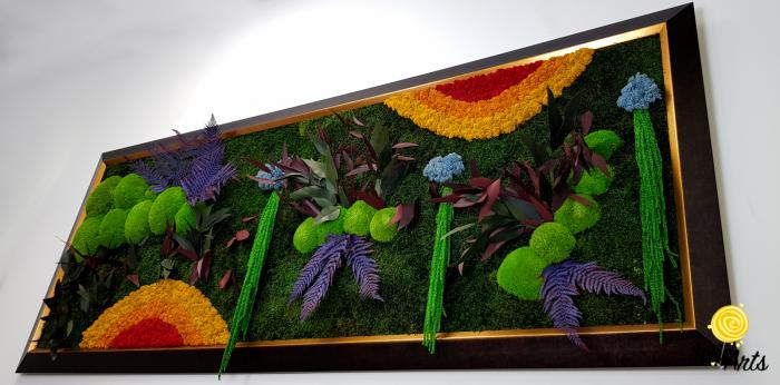 Model Curcubeu Clasic, rama maro patinat cu insertii aurii, dimensiune 60 x 200 cm, Jolie Arts, www.tablouriculicheni.ro-3 [5]