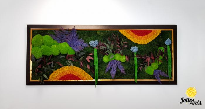 Model Curcubeu Clasic, rama maro patinat cu insertii aurii, dimensiune 60 x 200 cm, Jolie Arts, www.tablouriculicheni.ro-3 [2]