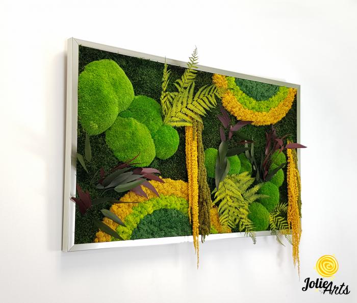 Model Curcubeu Galben, muschi de padure, plante conservate si licheni naturali stabilizati [3]