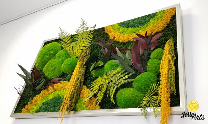 Model Curcubeu Galben, muschi de padure, plante conservate si licheni naturali stabilizati [5]