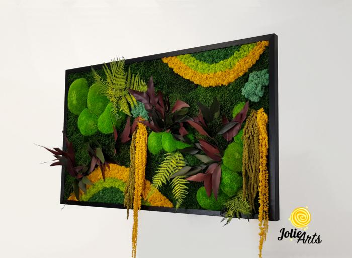 Model Curcubeu Galben, muschi de padure, plante conservate si licheni naturali stabilizati [1]
