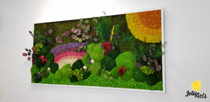 Model Curcubeu personalizat: muschi natural, licheni si plante conservate [3]