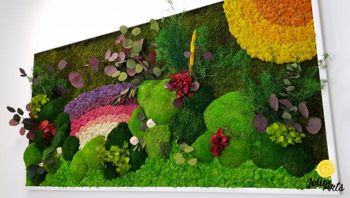 Model Curcubeu personalizat: muschi natural, licheni si plante conservate [5]
