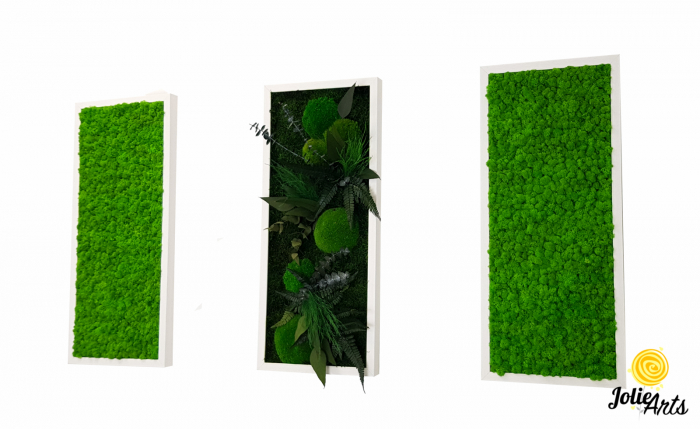 Model Green Day, set 3 tablouri dimensiune 30 x 70 cm [0]