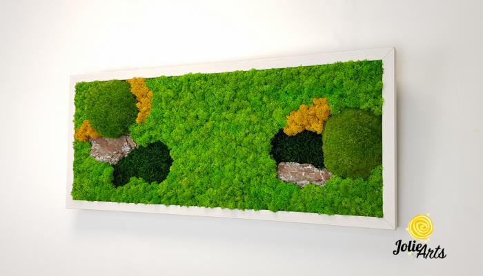 Tablou licheni, muschi si scoarta pin [1]