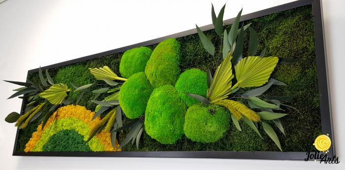 Model Soare clasic: muschi de padure, licheni stabilizati si plante naturale conservate. [5]