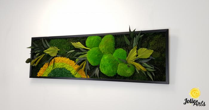 Model Soare clasic: muschi de padure, licheni stabilizati si plante naturale conservate. [1]