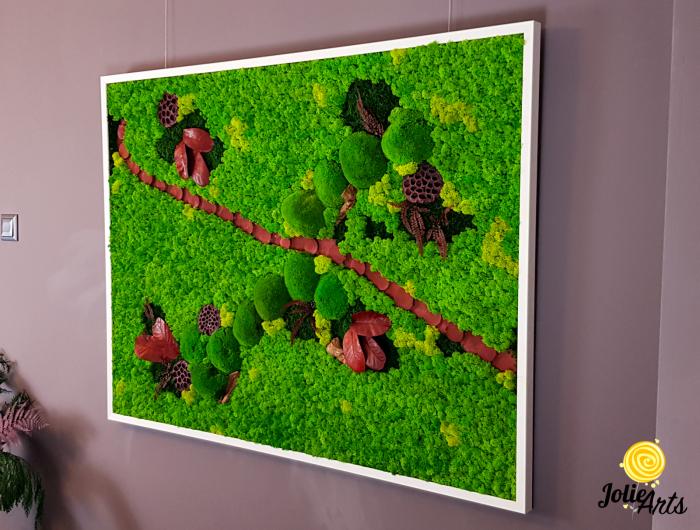 Tablou licheini, muschi si plante naturale stabilizate Jolie Arts [3]