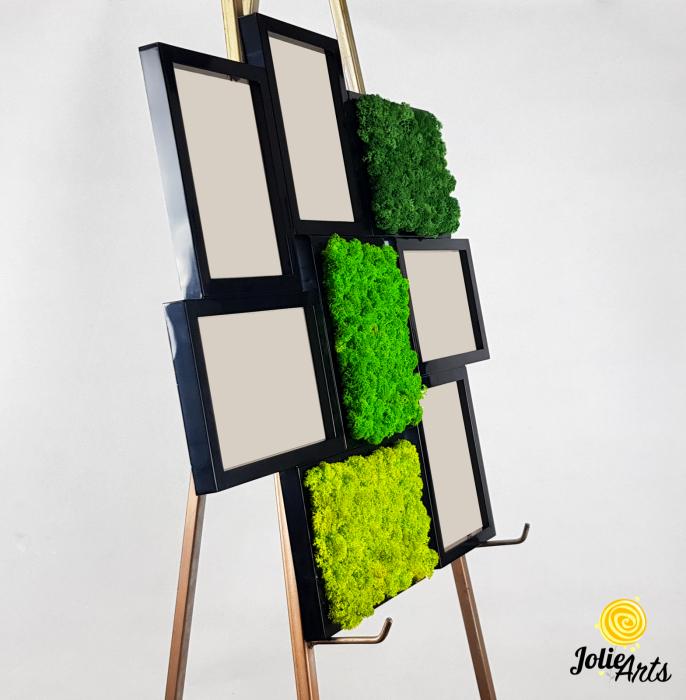 Rama foto decorata cu licheni naturali stabilizati Jolie Arts [3]