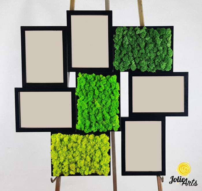 Rama foto decorata cu licheni naturali stabilizati Jolie Arts [1]