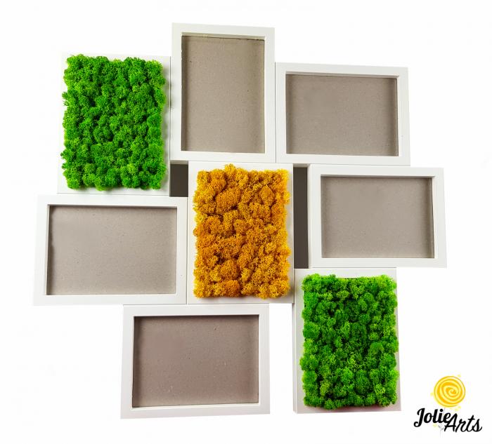 Rama fotografii decorata cu licheni naturali stabilizati, Jolie Arts [0]