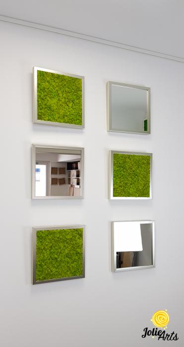 Set tablouri cu licheni Spring Green / Oglinzi [2]