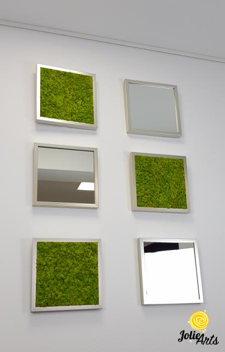 Set tablouri cu licheni Spring Green / Oglinzi [1]