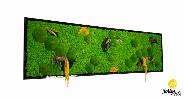 Tablou cu licheni, muschi si plante naturale stabilizate, Jolie Arts, model personalizat [0]