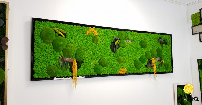 Tablou cu licheni, muschi si plante naturale stabilizate, Jolie Arts, model personalizat [3]