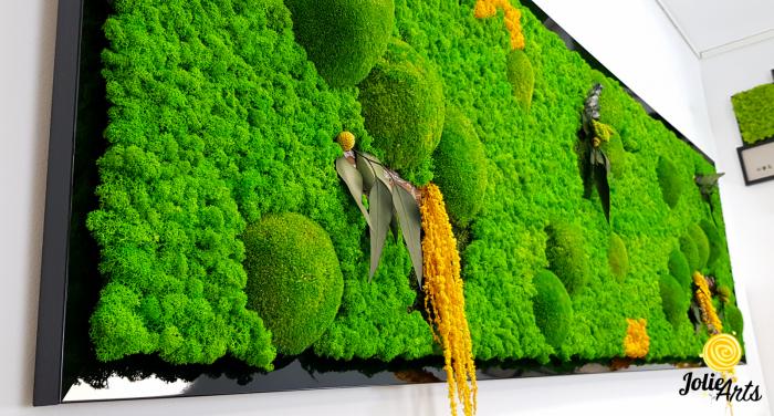 Tablou cu licheni, muschi si plante naturale stabilizate, Jolie Arts, model personalizat [4]