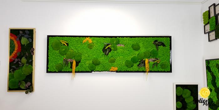Tablou cu licheni, muschi si plante naturale stabilizate, Jolie Arts, model personalizat [2]