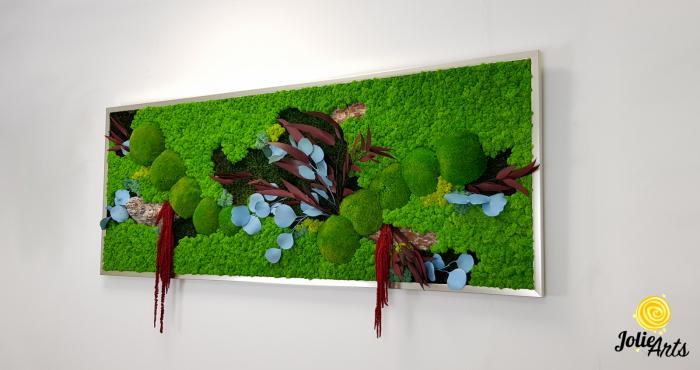 Tablou cu licheni, muschi si plante naturale stabilizate, model personalizat [1]