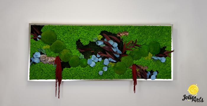Tablou cu licheni, muschi si plante naturale stabilizate, model personalizat [2]