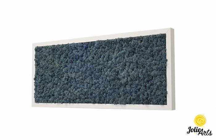Tablou cu licheni naturali stabilizati, culoare Blue Lavender [0]