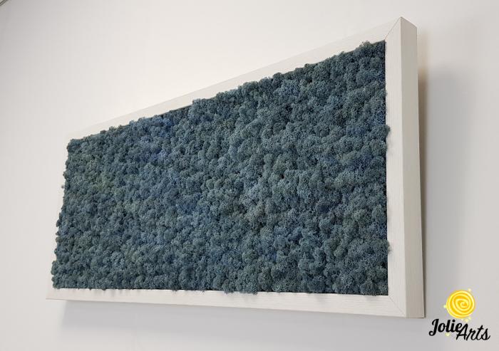 Tablou cu licheni naturali stabilizati, culoare Blue Lavender [2]