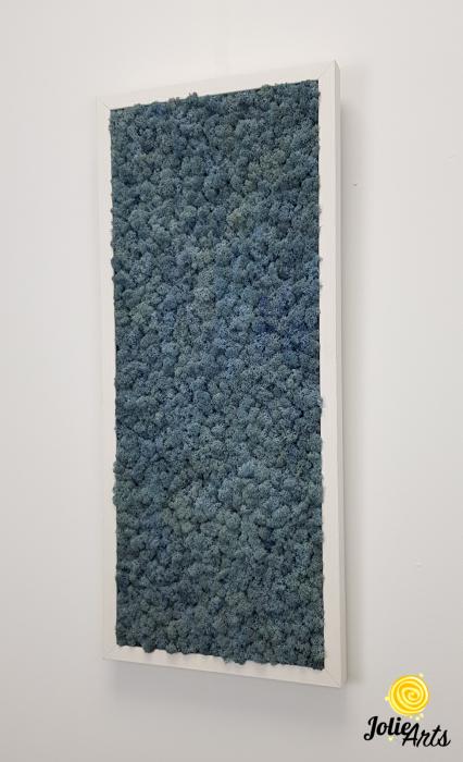 Tablou cu licheni naturali stabilizati, culoare Blue Lavender [4]