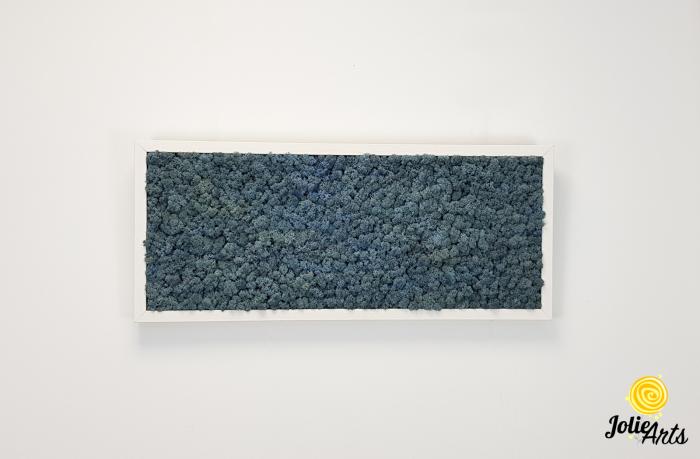 Tablou cu licheni naturali stabilizati, culoare Blue Lavender [5]