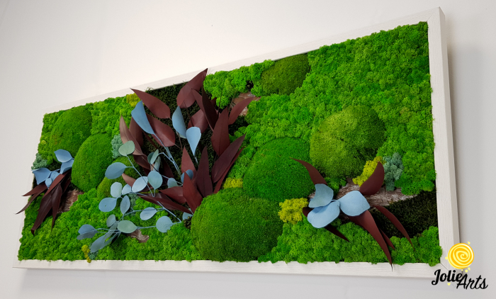 Tablou licheni, muschi si plante naturale stabilizate Jolie Arts, model Ilona [4]