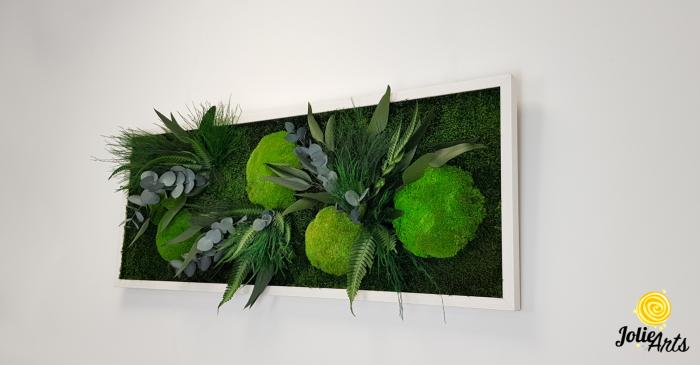 Tablou licheni, muschi si plante naturale stabilizate, model Green Day, Jolie Arts [1]