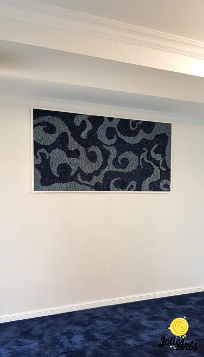 Tablou licheni naturali stabilizati, doua nuante de albastru [1]