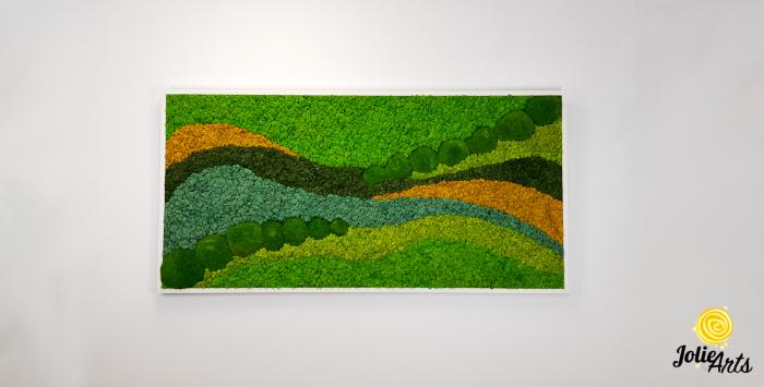 Tablou licheni si muschi bombati Jolie Arts, model Pacific [2]