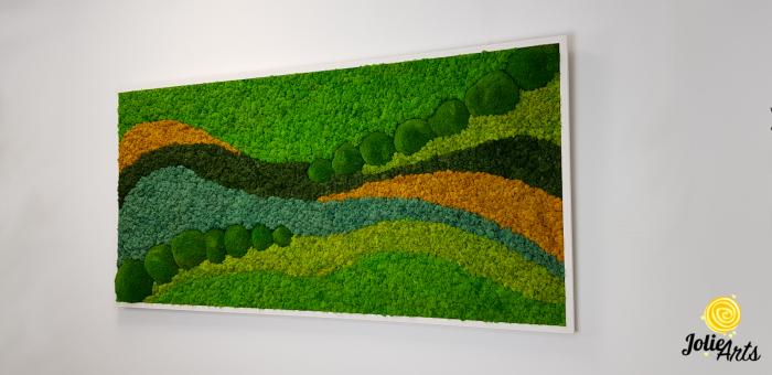 Tablou licheni si muschi bombati Jolie Arts, model Pacific [1]