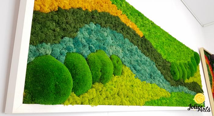 Tablou licheni si muschi bombati Jolie Arts, model Pacific [4]