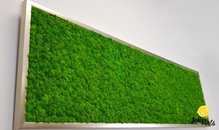Tablou licheni naturali stabilizati, culoare verde deschis, 40 x 130 cm, Jolie Arts, www.tablouriculicheni.ro-2 [4]