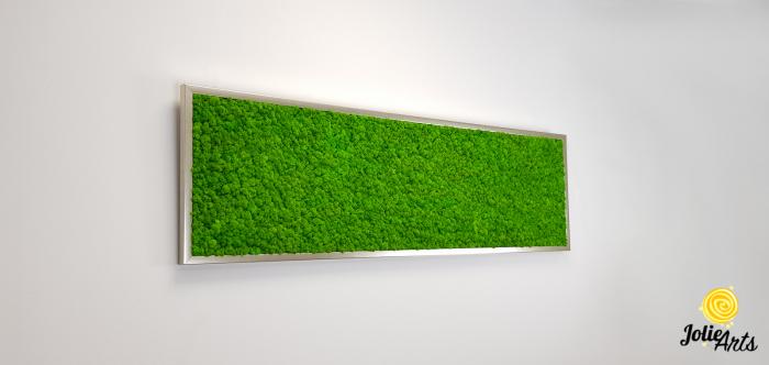 Tablou licheni naturali stabilizati, culoare verde deschis, 40 x 130 cm, Jolie Arts, www.tablouriculicheni.ro-2 [3]
