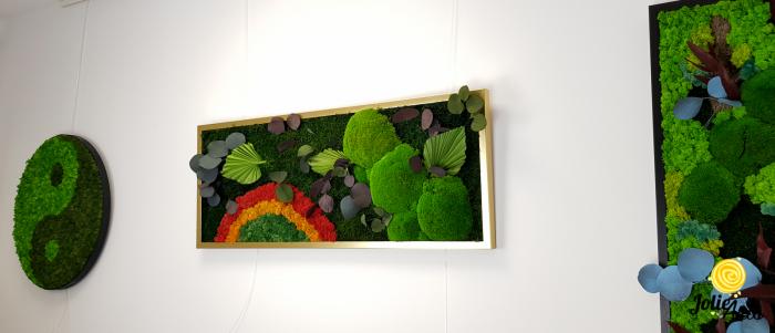 Tablou muschi naturale bombati de padure, licheni si plante naturale stabilizate Jolie Arts [1]