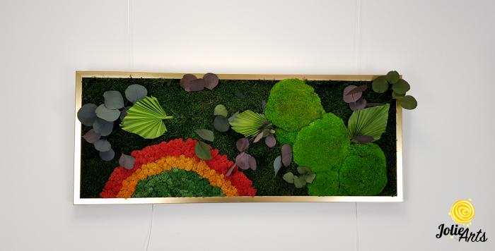 Tablou muschi naturale bombati de padure, licheni si plante naturale stabilizate Jolie Arts [3]