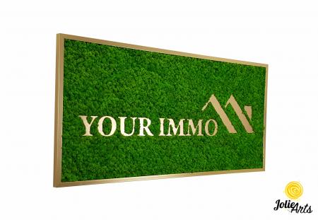 Logo personalizat, litere forex, decorat cu licheni naturali stabilizati, Jolie Arts [0]