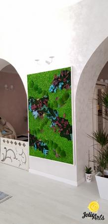 Tablou licheni, muschi bombati si plante naturale stabilizate Jolie Arts [1]
