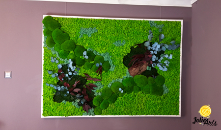 Tablou licheni, muschi bombati si plante naturale stabilizate Jolie Arts [5]