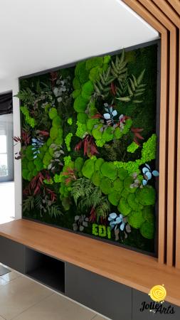 Panou decorativ cu plante naturale stabilizate, muschi de padure si licheni [0]